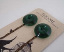 Encore - Dark Green Vintage button bobbi pin set