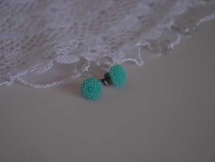 Pretty Flower earrings - Aqua