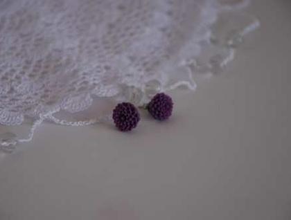 Pretty Flower earrings - Amethyst
