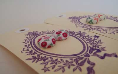 Custom Button Earrings