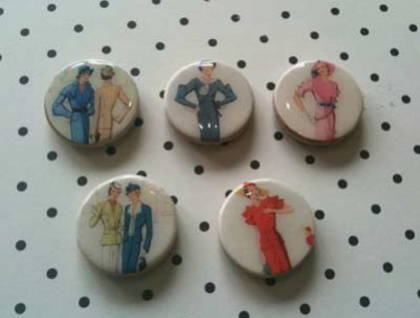 Magnet Set - Lovely Ladies (5)