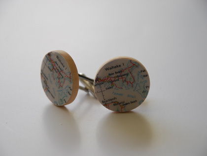 Cufflinks - Maps of your choice