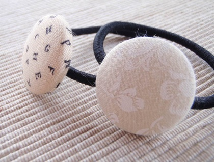Custom Button Hair Tie