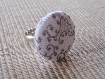 On the fifth day of Christmas - Button rings $3.50