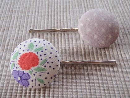 Custom Button Bobbi pin