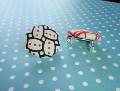 Custom Button Brooch