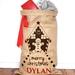 Personalised Hand Screenprinted Santa Sack, Gingerbread Man