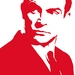 """Hand Screen Printed 007 Sean Connery Tea Towel """"Live and Let Dry""""by Plum Jam"""