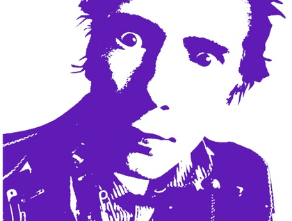 "Hand Screen Printed Johnny Rotten 'Never Mind The Dishes"" Tea Towel by Plum Jam"