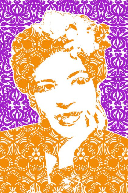 Billie Holiday Two Colour Tea Towel