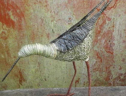 Handmade harakeke godwit