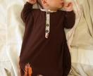 Merino wool newborn sleeping gown - Custom made