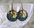 Kowhai New Zealand Stamp Earrings