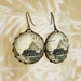 Round Mitre Peak New Zealand Stamp Earrings