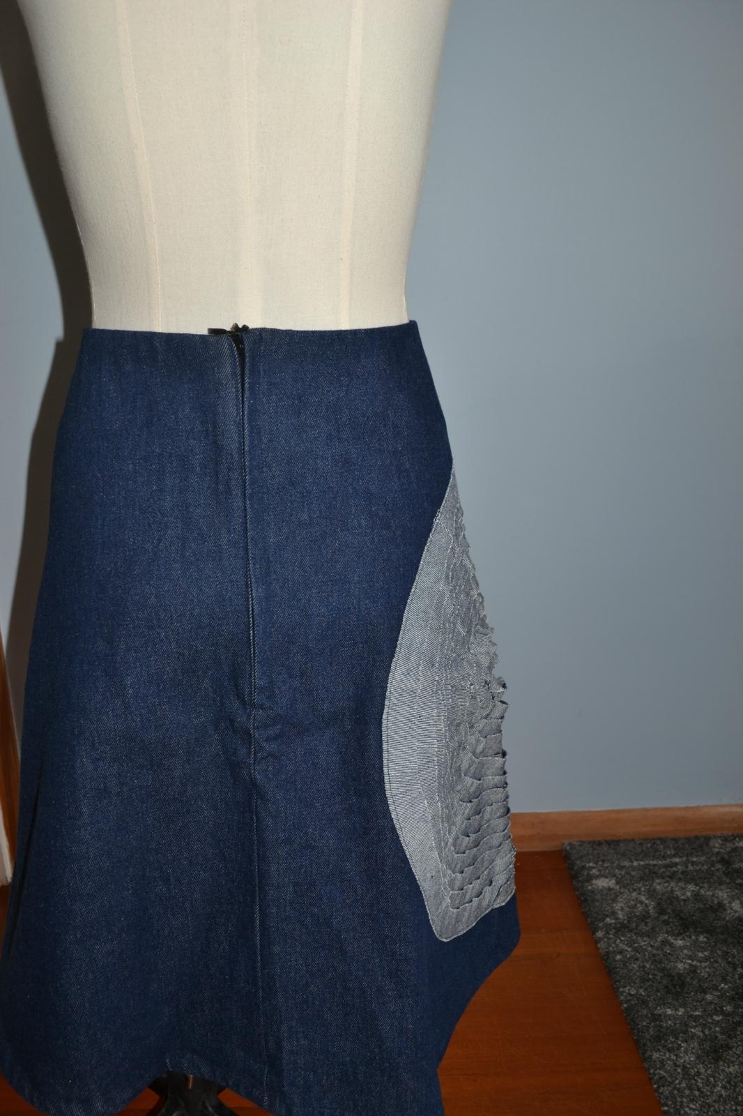 aline skirt denim skirt size 16 felt