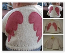 Pure wool angel wings cardigan
