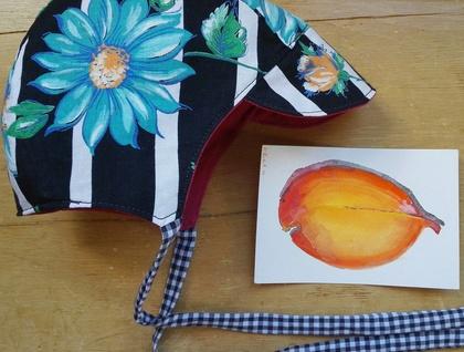 Retro floral peaky bonnet by Heart Felt