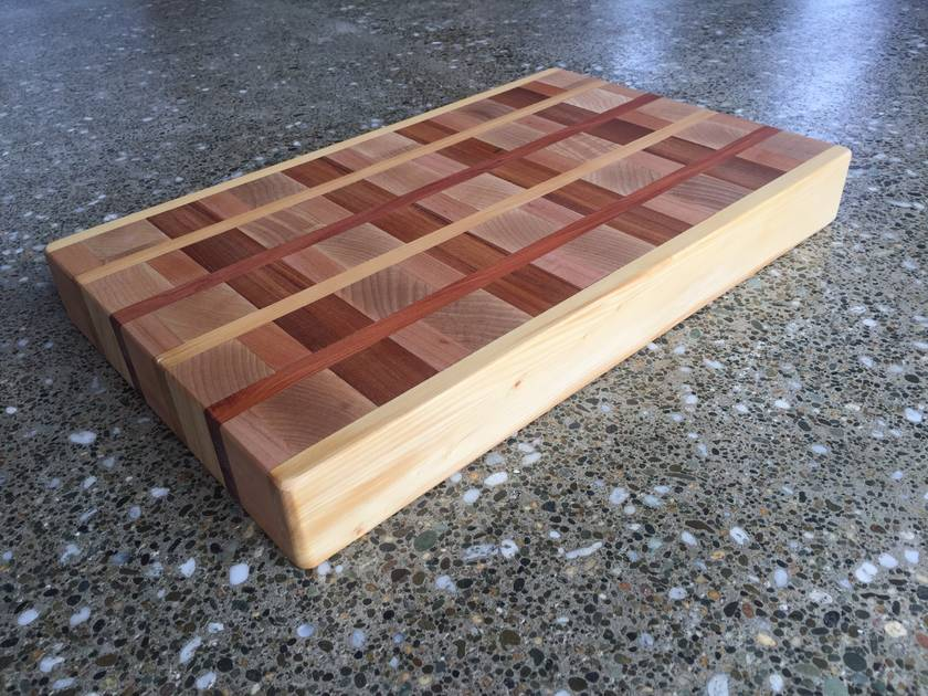 Large end grain chopping board and serving tray