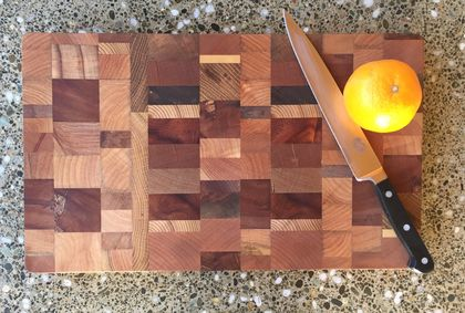 Medium end grain random chopping board