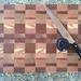 Medium end grain chopping board and serving tray