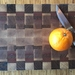Walnut and totara end grain chopping board