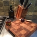Beech and Maple End grain chopping board