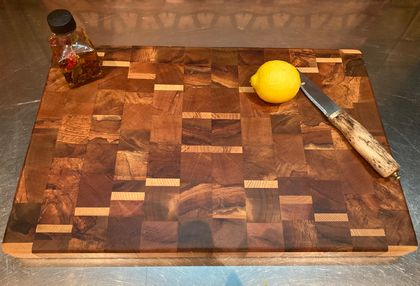 Rimu and White Ash End Grain chopping board