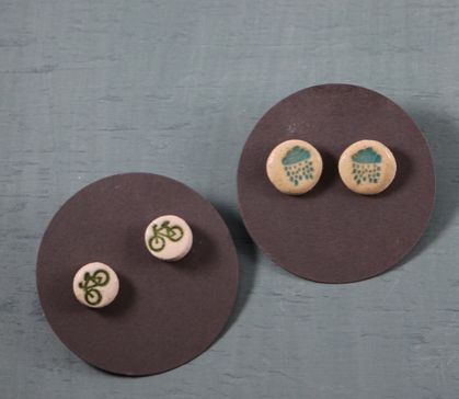 little ceramic earings