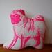 Neon Pink Pug Cushion