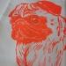 Pug Tea Towel - Neon Orange