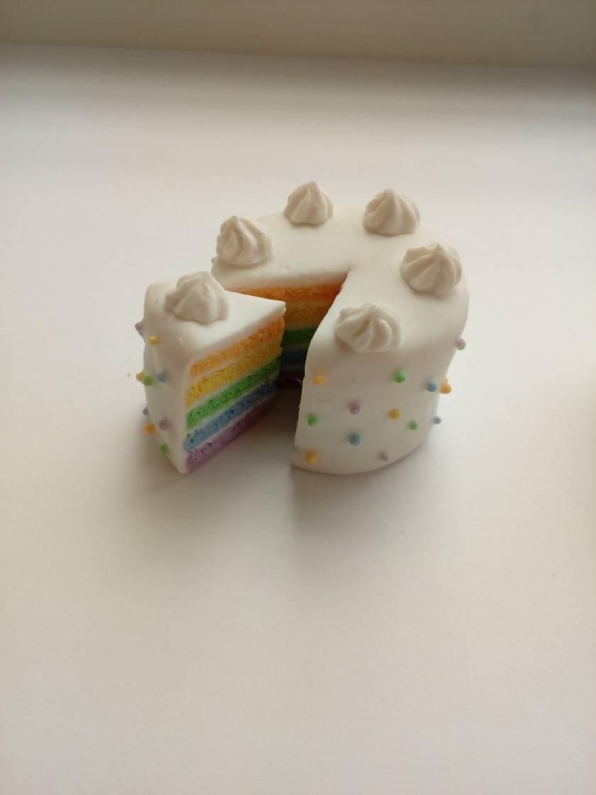 Miniature Rainbow Cake (Pastel)