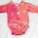batik stars onesie- tie dyed pink & orange