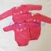 batik stars onesie- pink