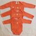 batik stars onesie- orange