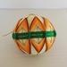Temari ornament - orange diamond pattern
