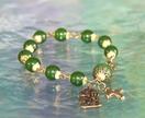 Greenstone Rosary Bracelet with Tiki/Manaia