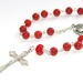 Red Pearl Pocket Rosary, Catholic Prayer Beads