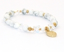 Guardian Angel & Saint Michael Bracelet with Swarovski Crystal Butterflies