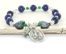 Saint Cecilia Stretch Bracelet, Patron Saint of Music
