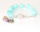 Rosary Bracelet, Saint Therese, Blue Amazonite
