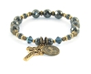 Saint Benedict Prayer Bracelet, Hematite & Brass