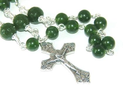 Greenstone - Nephrite Jade Catholic Rosary Beads