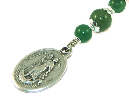 Saint Raphael Clip, Patron Saint of Travelers