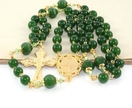 Greenstone Divine Mercy Rosary, New Zealand Made Nephrite Jade & Silver Catholic Prayer Beads