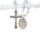 Baptism Gift, Personalized Chaplet Rosary for Baby Boy