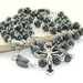 Boy's First Communion Rosary, Communion Chalic Center & Black Crucifix