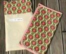 Designer Baby Change Mat (pink & green design)