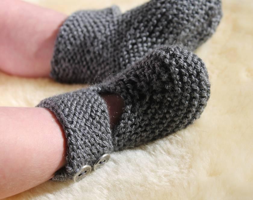 Baby Biker Boots - PDF Knitting Pattern