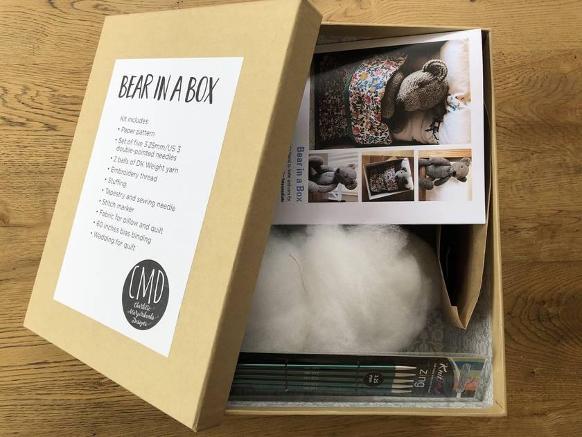 Bear in a Box Knitting Kit