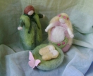 Spring Time -  New Zealand Wool Needle felted Family